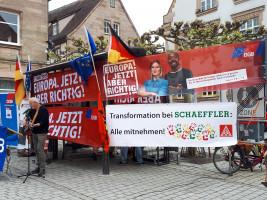 Live-Musik mit Werner Lutz und Forderungen der Schaeffler-Kollegen