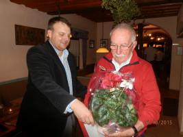 1. Vorsitzender Thomas Schulz mit Jubilar Helmut Wahner