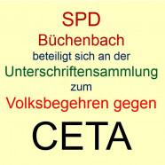Volksbegehren gegen CETA - Unterschriftensammlung auch im Landkreis Roth und Schwabach