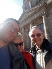 Auch Genossinnen und Genossen aus dem Landkreis Roth besuchten Martin Schulz, hier von l.n.r.: Wolfgang Lebok, Petra Metzger, Wolfgang Schmid