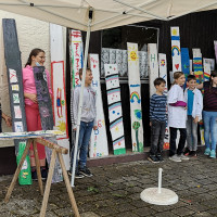 Kinder als Künstler beim Ferienprogramm in Büchenbach