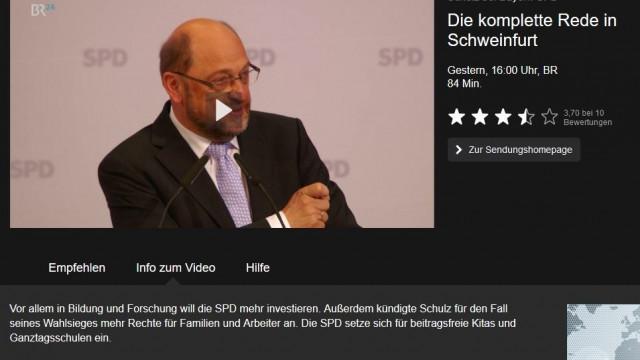 Video der Rede von Martin Schulz bei der BayernSPD