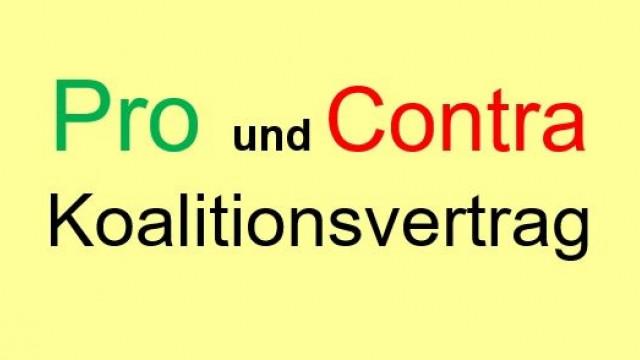 Pro und Contra Koalitionsvertrag