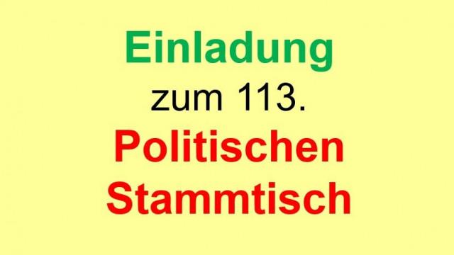 """Einladung zum 113. Politischen Stammtisch, """"Nachlese zur GroKo !"""""""